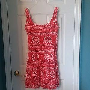 Red & white mini dress